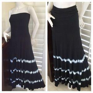 Inc. Convertible Maxi Dress In Navy Size XL